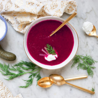 Modern Borscht: Beet and Parsnip Puree