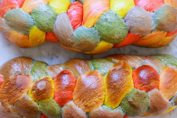 Natural Rainbow Challah