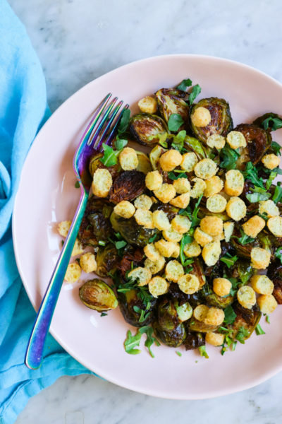 Sweet and Spicy Bamba Brussels Sprouts