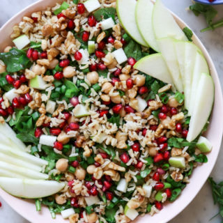 Apples and Honey Chickpea Quinoa Salad