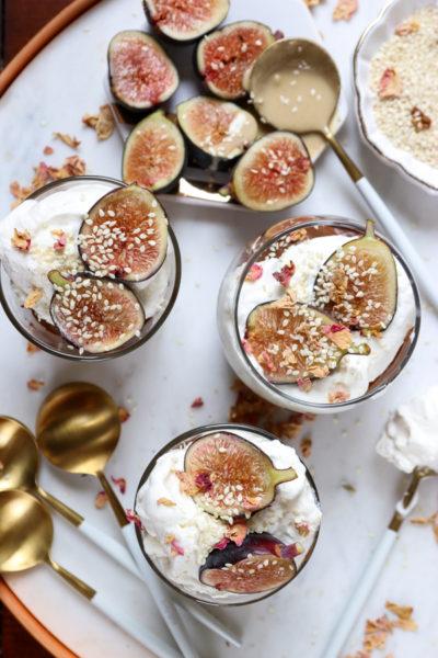 Chocolate Tahini Avocado Mousse with Cardamom Whipped Cream