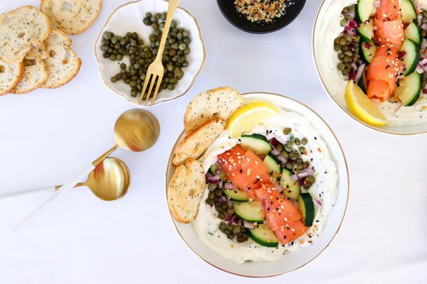 Bagel and Lox Greek Yogurt Bowl