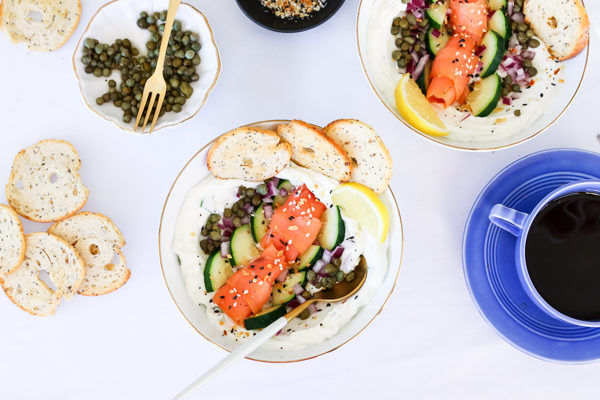 Bagel and Lox Greek Yogurt Bowl