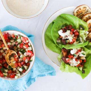 Shawarma Lettuce Wraps