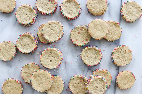 Tahini Rainbow Sprinkle Shortbread