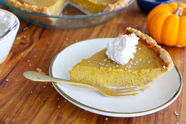 Tahini Hawaij Pumpkin Pie