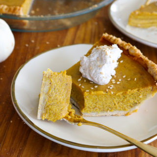 Tahini Hawaij Pumpkin Pie
