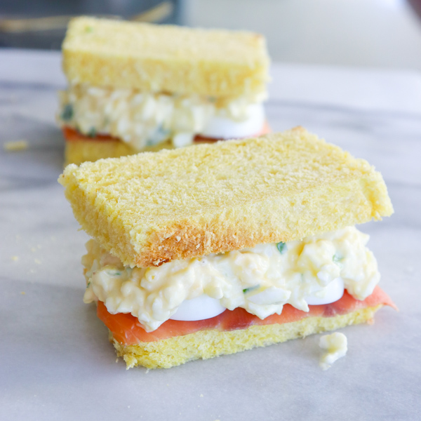 Egg Salad with Lox on Challah