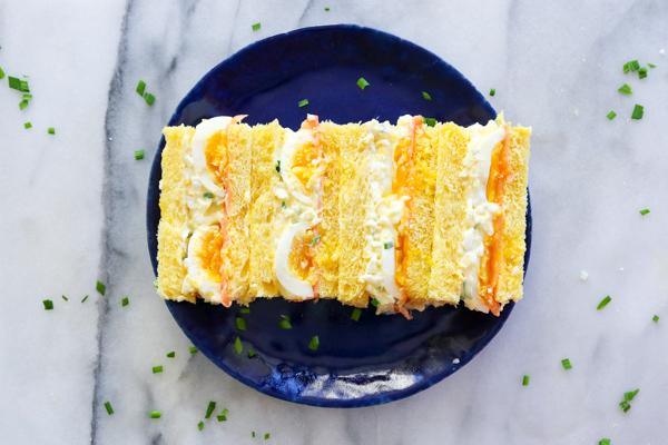 Egg Salad with Lox on Challah