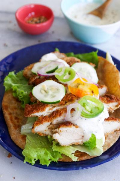 Chicken Schnitzel Wrap