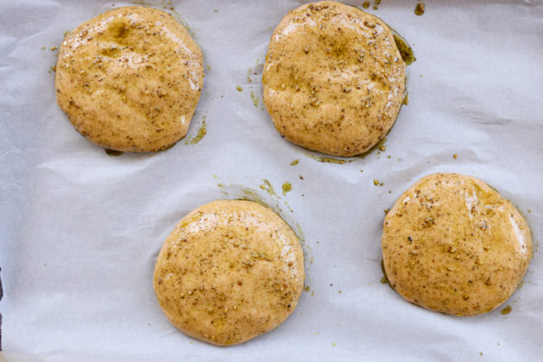 Whole Wheat Za'atar Pita