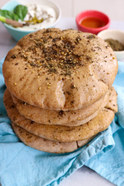 Whole Wheat Za'atar Pita