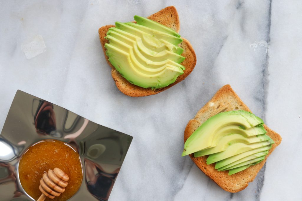 Apples and Honey Avocado Toast