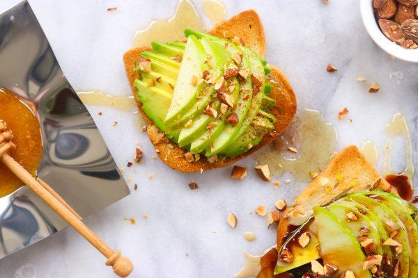 Apples and Honey Avocado Toast