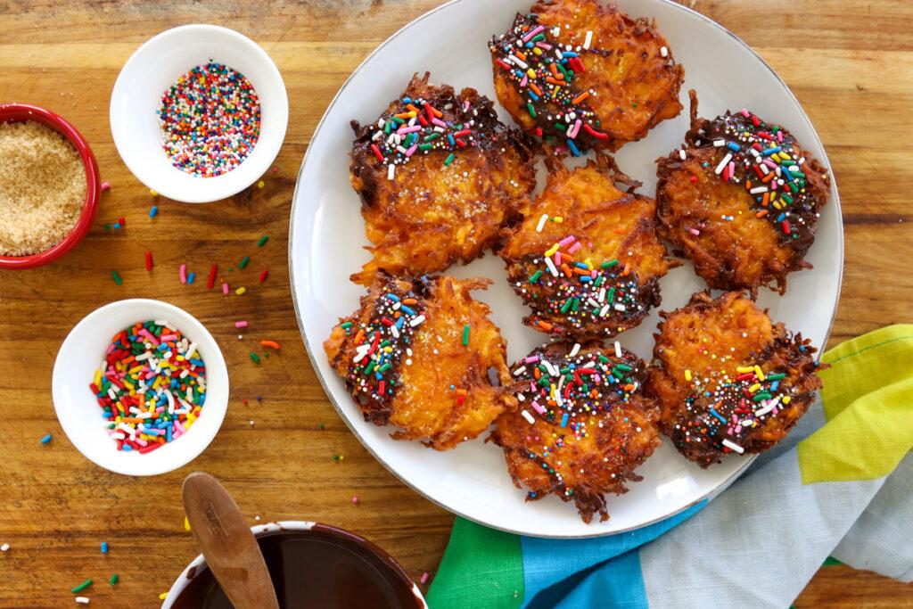 sweet potato dessert latkes