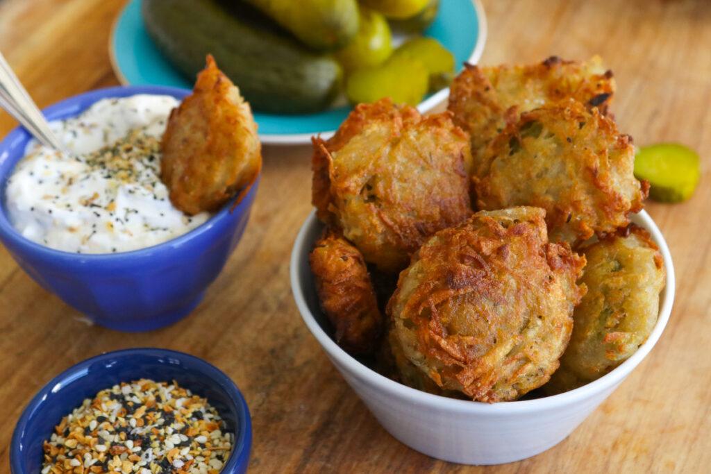 Fried Pickle Latkes