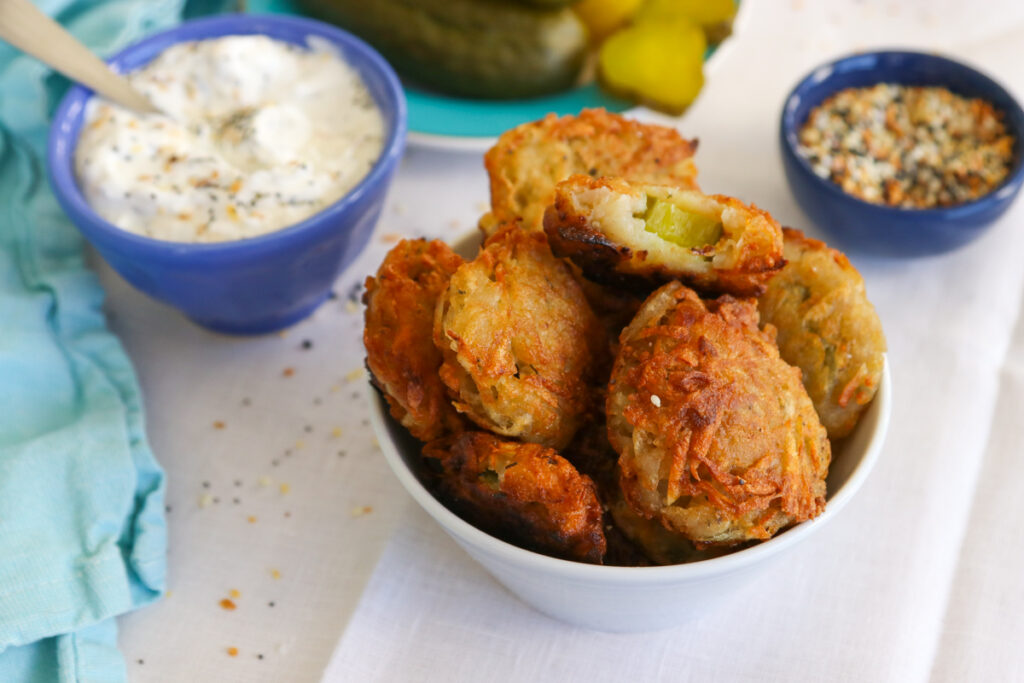 Fried Pickle Latkes