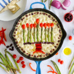 Eight crazy nights deserves one crazy Olive Potato Focaccia with Asparagus Menorah