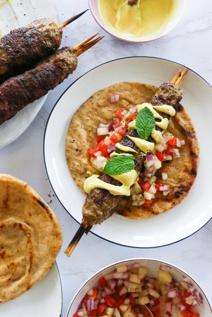 Lamb Kofta Kebabs with Turmeric Tahini Sauce