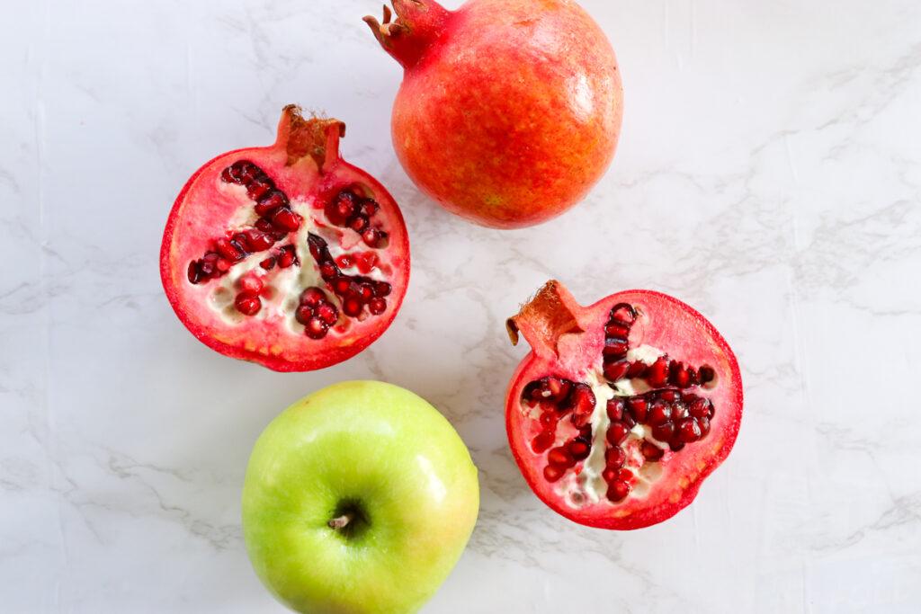 Chocolate Chip Apple Cake with Pomegranate Glaze