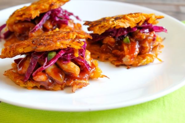 BBQ Chicken Latkes Sliders for Passover