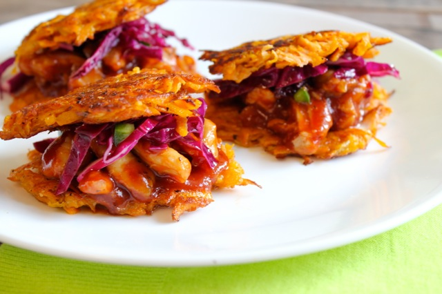 BBQ Chicken Latkes Sliders for Passover