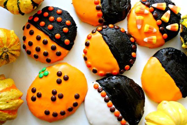 Halloween Black and Orange Cookies