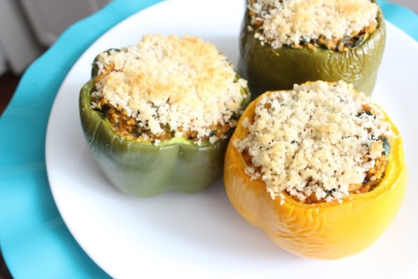 Cheesy Quinoa Stuffed Peppers