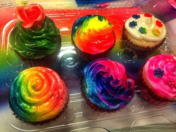 Airbrushed Cupcakes