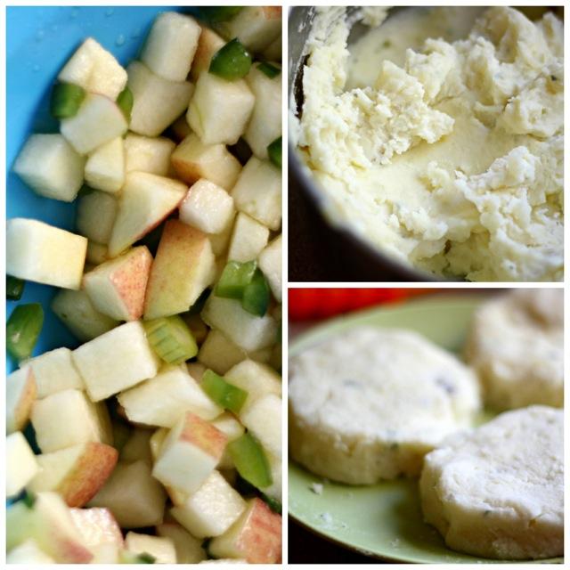 Gorgonzola Mashed Potato Latkes with Jalapeño Apple Relish 9