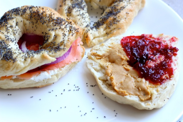 peanut butter bagel