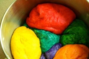 Rainbow Challah Bread