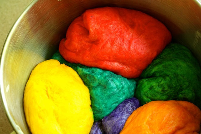Rainbow Challah Bread