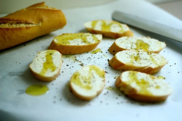 Apples, Honey & Goat Cheese Crostini