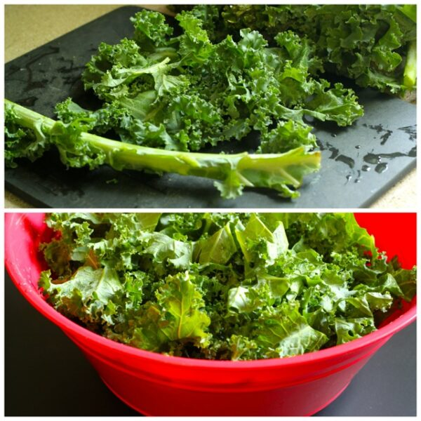 Kale Salad with Goat Cheese, Avocado and Tahini Dressing