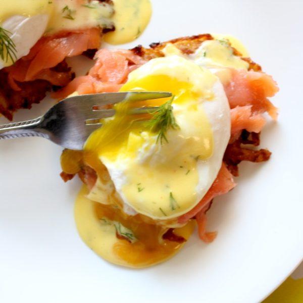Eggs Benedict Latkes