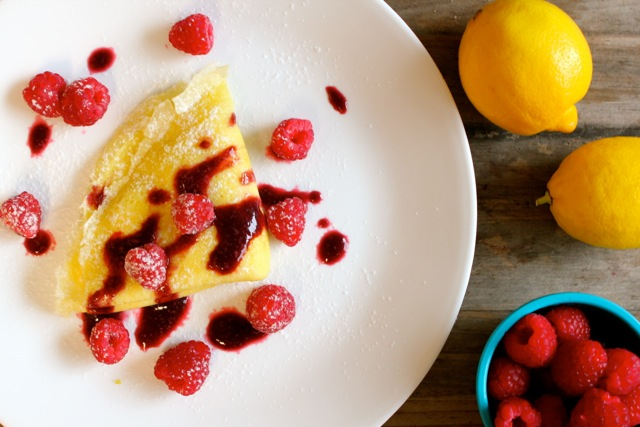 raspberry lemon crepes