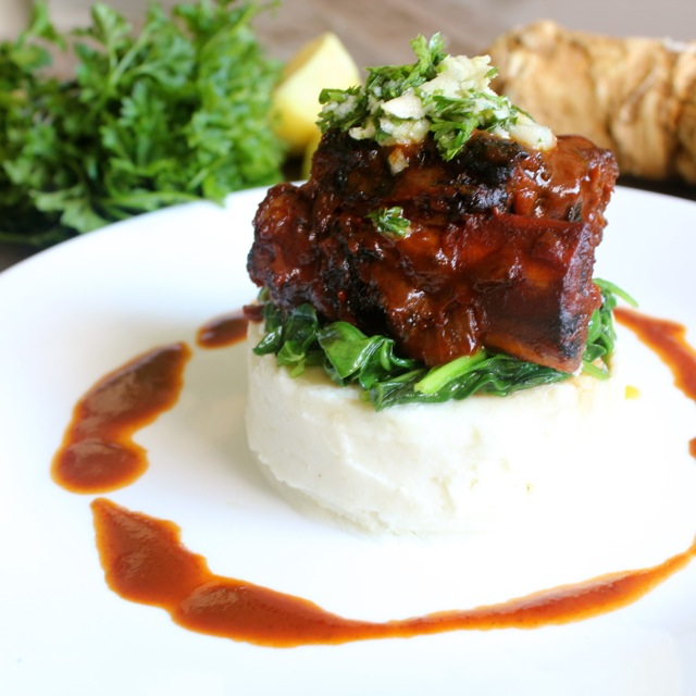 Manischewitz Braised Short Ribs with Horseradish Gremolata