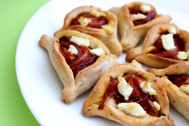 Caramelized Onion and Goat Cheese Hamantaschen