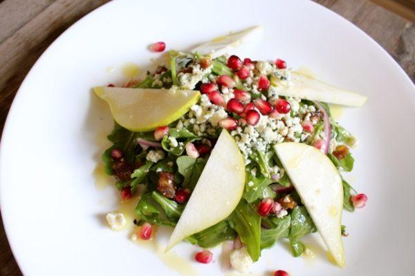 Pomegranate, Gorgonzola and Pear Salad