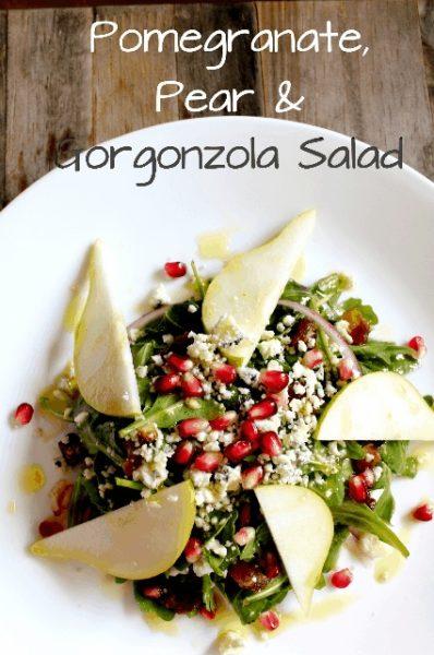 Pomegranate, Pear and Gorgonzola Salad