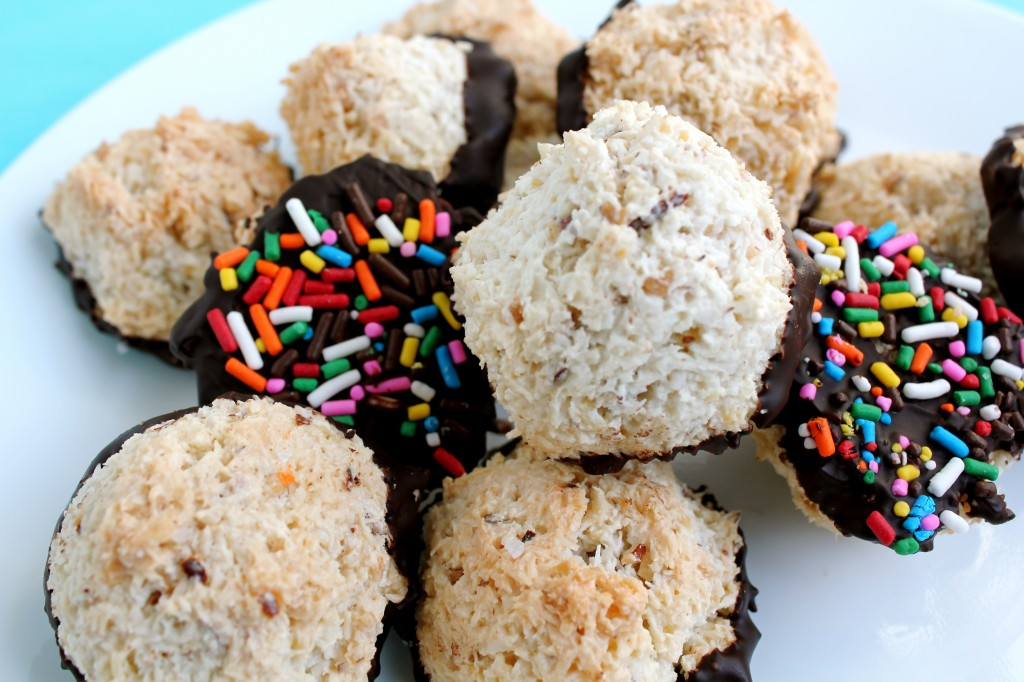 Rainbow Sprinkle and Sea Salt Chocolate Macaroons 8