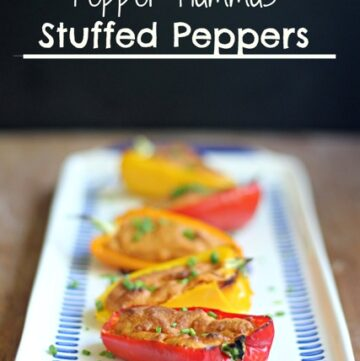 Red Pepper Hummus Stuffed Peppers