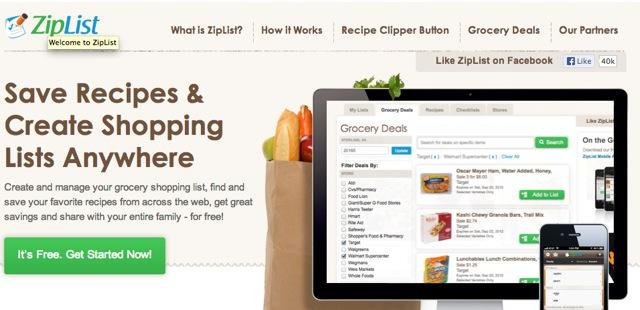 Saving & Printing Recipes on the New WJWE with ZipList!