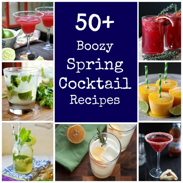 50+ Boozy Spring Cocktails