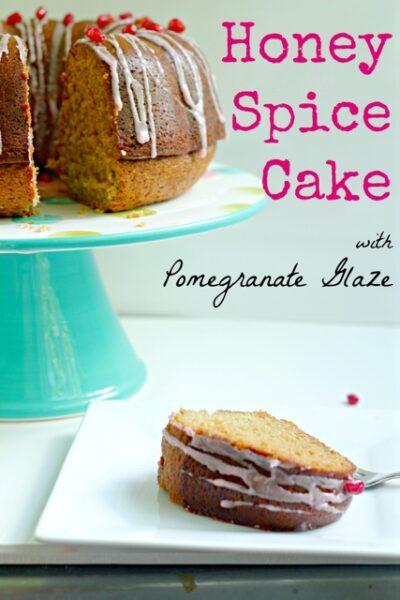 Honey Spice Cake with Pomegranate Glaze