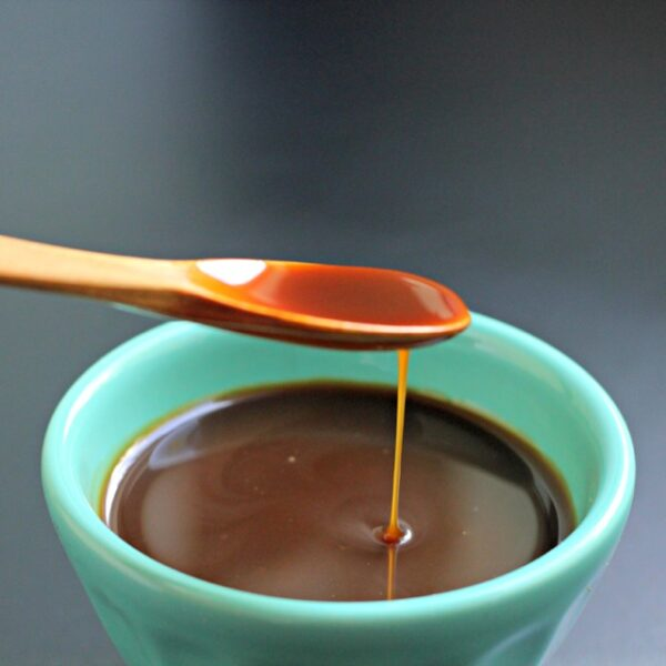 Apple Spice Latkes with Cinnamon Yogurt and Caramel Sauces