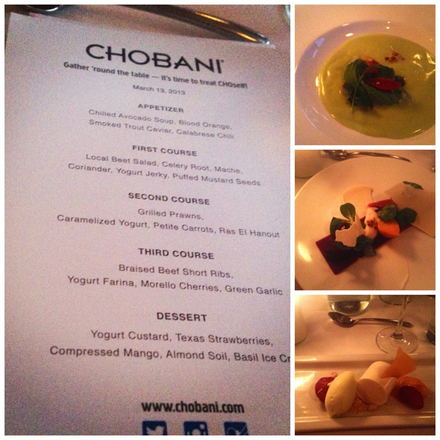 chobani austin dinner