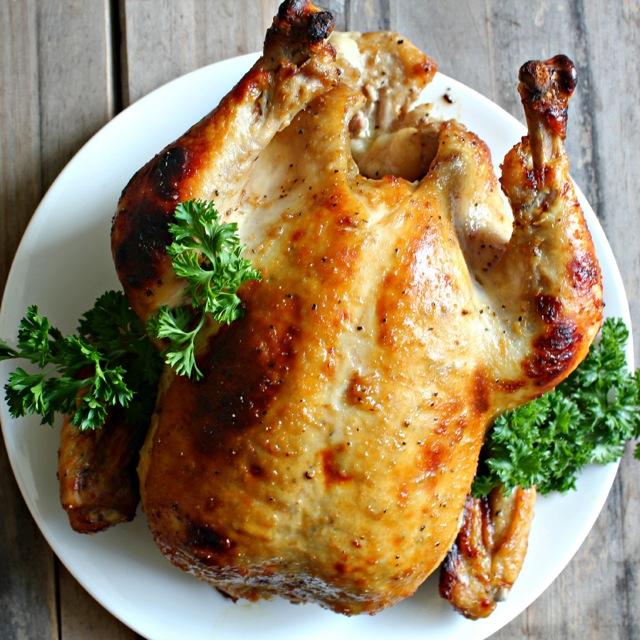 Honey Horseradish Roasted Chicken