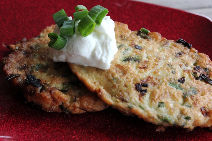 matzah scallion pancakes